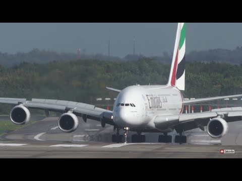 Aterrizaje de Airbus A380 vs viento cruzado en Alemania