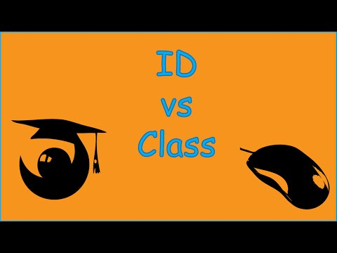 Css Id Vs Class Attributes,  When To Use Id And When To Use Class, Difference Between Id And Class