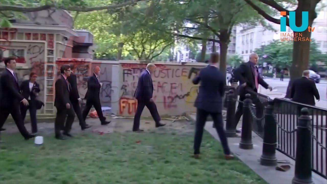 Donald Trump buscaba posar para una fotografía y se desató el caos en un parque