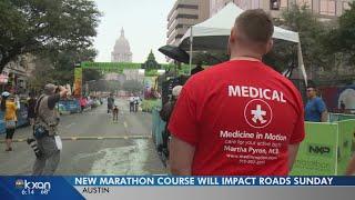 New Austin Marathon course will impact roads Sunday