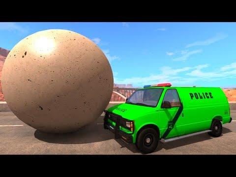Инкасаторский фургон и Летающая полицейская машина - Крутые мультфильмы для мальчиков