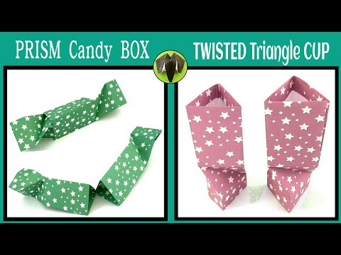 Prism Candy Box | Twisted Triangle Cup - DIY | Origami |Tutorial - 779