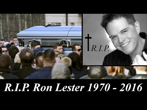 Ron Lester Dead at age 45 years RIP animation of Funeral of Ron Lester