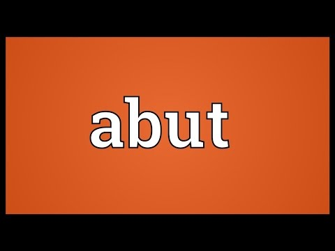 Abut Meaning