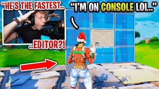 I met the fastest CONSOLE EDITOR in Fortnite.. (he's ONLY 11!)