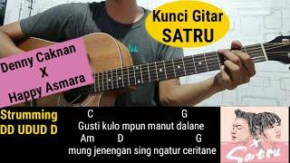 Kunci Gitar - Satru - Denny Caknan X Happy Asmara (Tutorial gitar mudah)