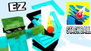 Monster School : STACK-BALL-Challenge - Minecraft Animation