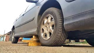 ситроен С5  замена колеса без домкрата