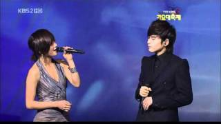Super Junior (Ryeowook) & KARA (Nicole) - Ben on KBS2 Gayo Daejun 30 December 2009