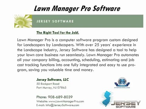 Lawn Manager Pro Landscape Billing Software Summary - YouTube