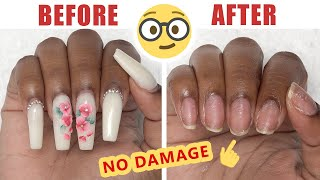 How To Remove Fake Nails at Home with No Damage