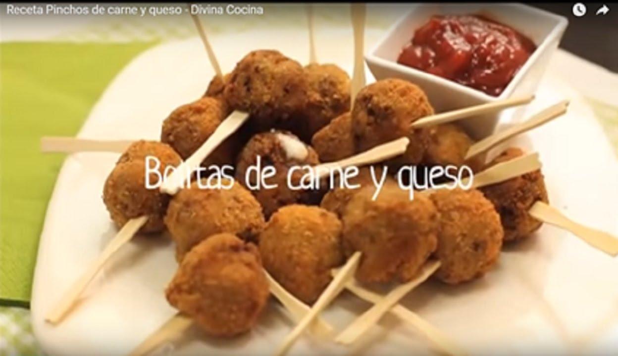 Receta De Pinchos De Carne Y Queso Divina Cocina