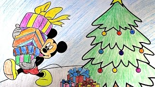 2015 Christmas Activities with Mickey Mouse!Disney Coloring Pages.