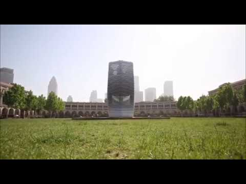 Smog Free Tower landing in Tianjin
