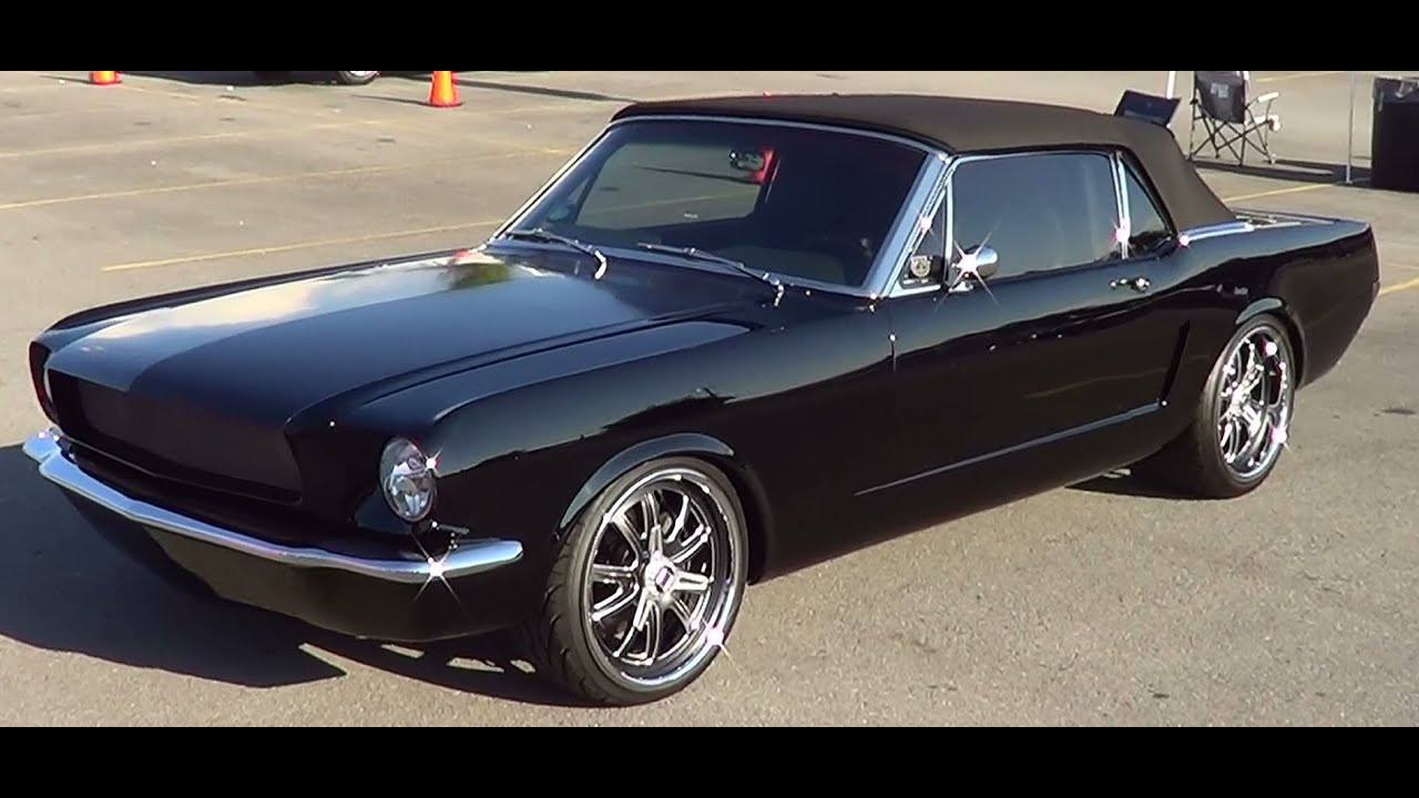 1965 Mustang Convertible Black Diamond  YouTube
