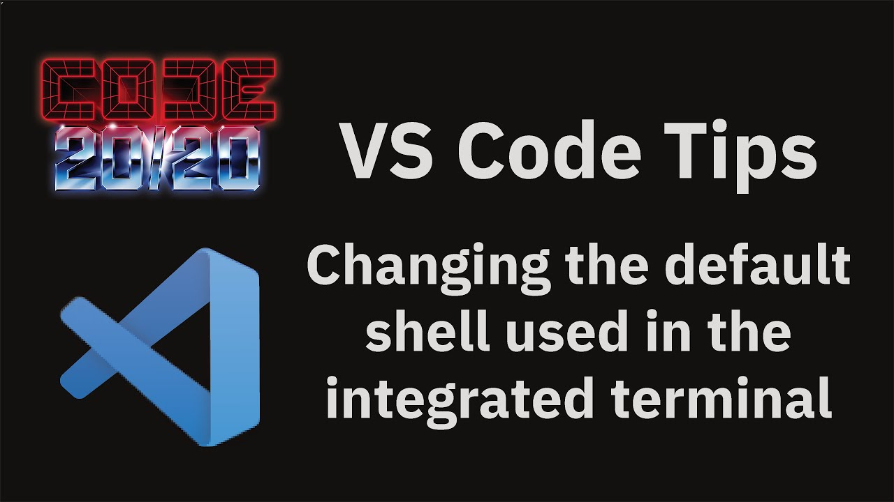 Changing the default shell used in the integrated terminal
