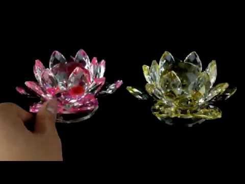 水晶蓮花燈 (旋轉型)