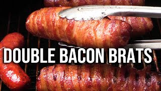 Double Bacon Brats recipe
