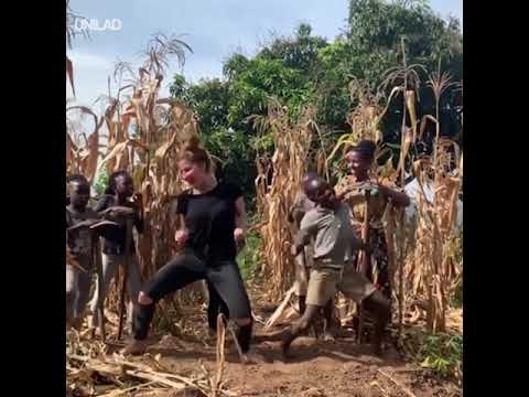 Girl Teaches Ugandan Kid To Dance