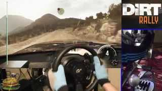 DiRT Rally simulator (NEW game 2015) - Steering Wheel gameplay Fully Manual, Ultra Graphics.
