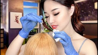 [ASMR] Relaxing Hair and Scalp Treatment