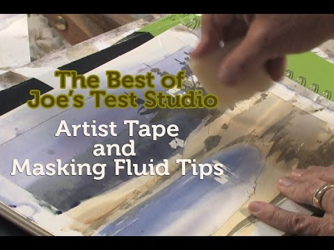 Masking Fluid and Artist Tape Tips from