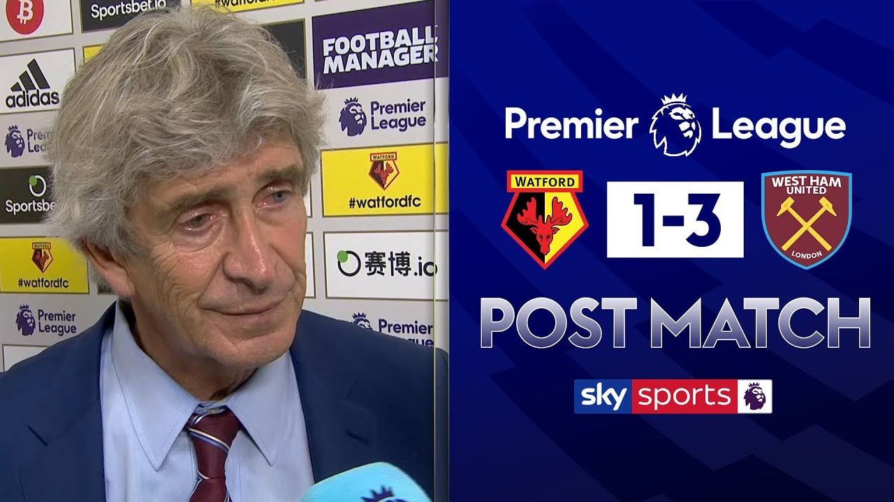 Pellegrini praises Haller's goals | Manuel Pellegrini Post Match | Watford 1-3 West Ham