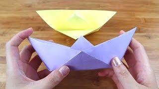 How to Make Easy Origami Boat | DIY Origami Boat Easy Tutorial | 5-Minute Paper Crafts