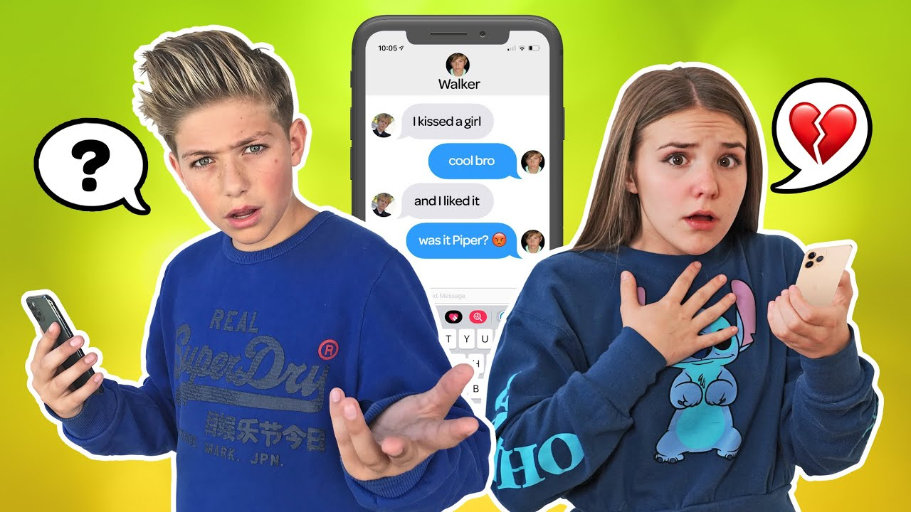 SONG LYRIC TEXT PRANK on my CRUSH - New BOYFRIEND?! **EMOTIONAL REACTION** 💔🥺| Piper Rockelle