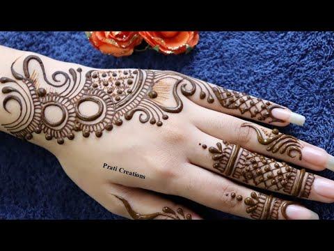 back left hand mehndi design