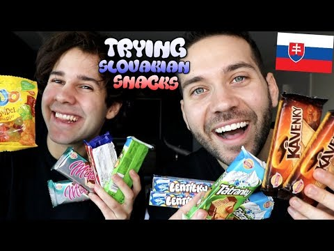 SLOVAKIAN PRINCES TRY SLOVAK SNACKS w/ David Dobrik and Ugh It's Joe