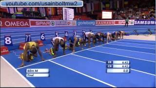 European indoor championships 2013 60 men final Jimmy Vicaut (6.48)