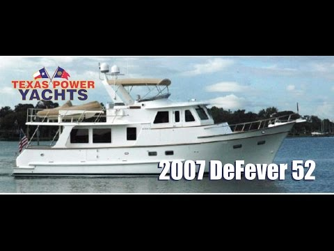 2007 DeFever 52 Trawler Yacht for sale at Texas Power Yachts