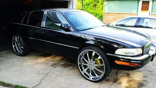 """1997 Buick Park Avenue on 26"""" Lexani's testing the sounds"""