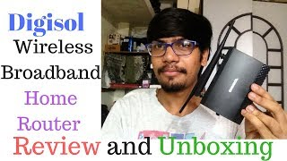 Digisol DG-HR3400 300Mbps Wireless Broadband Home Router review and unboxing