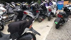 japanese used mopeds scooters motorcycles warehouse stock export import osaka japan скутер скутеры