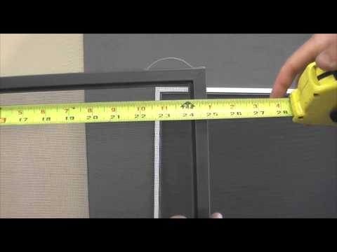 How To Measure Your Window Screens - Old