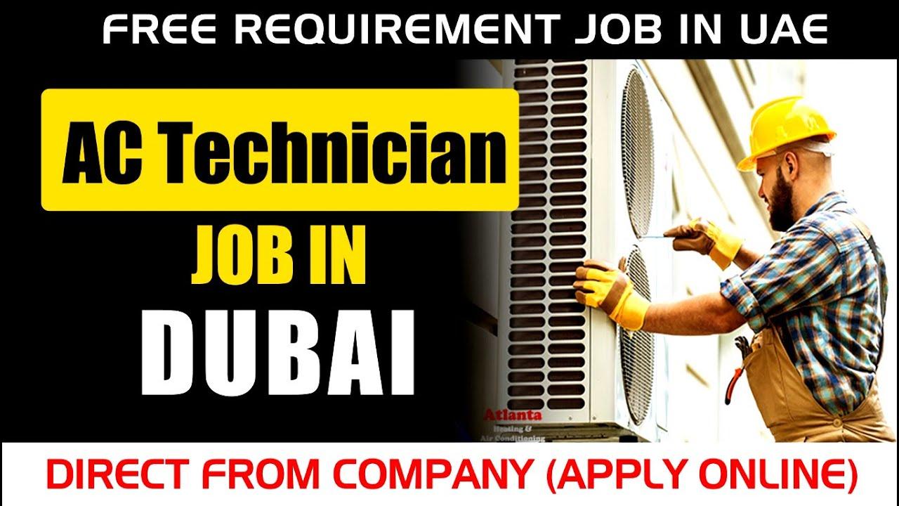FREE Jobs in UAE 2020 Direct from Company | AC Technician Job Vacancy in UAE | Apply Online 📧