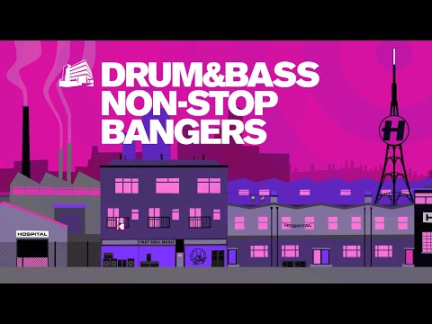 Drum & Bass Non-Stop Bangers - To Vibe/Dance To