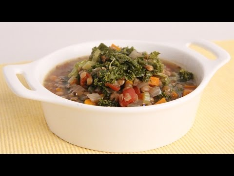 Lentil-Miso Kale Soup With Nori