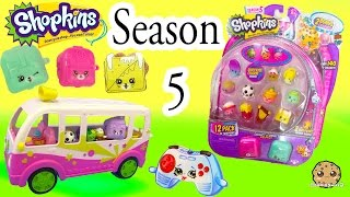 Season 5 Shopkins 12 Pack with Glow In The Dark Surprise Blind Bag + Charms - Video Cookieswirlc