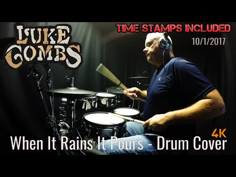 Luke Combs - When It Rains It Pours - Drum Cover (4K) Nashville