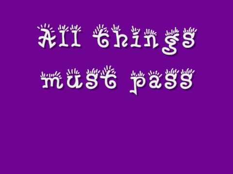 All Things Must Pass - The Beatles - With Lyrics