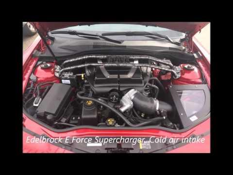 2014 Camaro with Edelbrock E Force Supercharger - YouTube