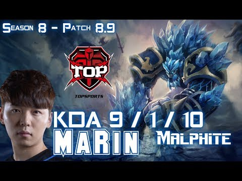TOP MaRin MALPHITE vs IRELIA Mid - Patch 8.9 KR Ranked