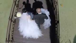 Aerial wedding shoot filmed with RC Drone cinematography
