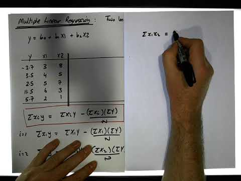 Multiple Regression: Two Independent Variables Case - Part 1