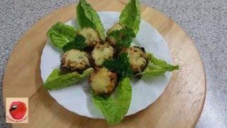Грибы, фаршированные овощами и запеченные в духовке. Кухня вкусная - 3