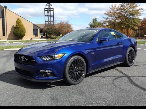 2015 ford mustang gt fastback 50th anniversary edition start up full tour and review - 2015 Ford Mustang V6 Blue