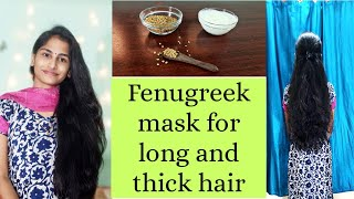 How to get Thick and long hair at home in Tamil DIY Fenugreek mask Hair mask for hair growth